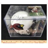 David Boston Signed Helmet, Photo & Card