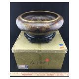 Vintage Handmade Cloisonne Ware Bowl & Stand