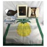 2 Small Mirrors/Cat Flap/Collector Dish/Pineapple