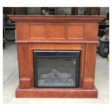 Electric Heater Wooden Hearth