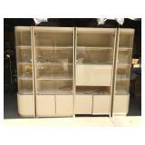 Large Four Piece Curio Cabinet