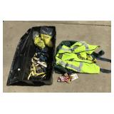 Tub of Safety Harnesses + Fall Protection Vest