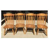 Four Knotty Pine Chairs