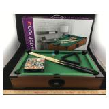 Miniature Desktop Pool Set w/ Box