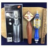 New Kraus Soap/Lotion Dispenser + 2 Beer Taps