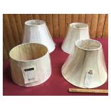 4 New Large Neutral Colored Lamp Shades