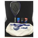 Ektelon Racket, Racquetballs & Duffle Bag
