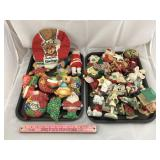 Two Trays of Christmas Items