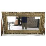 Gilt Ornate Victorian Framed Beveled Mirror