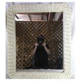 Rectangular Mirror Woven Wicker Frame