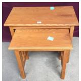 Nested Mission Oak Style Tables