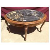 Antique Mahogany Provincial Marble Table
