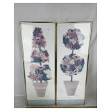 Framed Henry Howells Floral Art Posters