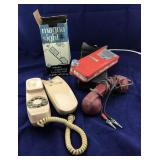Trimline Phone, Vntg Battery Recharger, Magnifier
