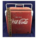 Small Vintage Coke Cooler With Side Opener