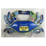 Metal Hand Painted Crab Decoration