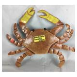 Recycled Metal Hand Painted Crab Decoration