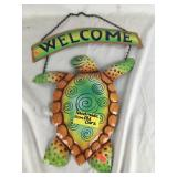 Recycled Hand Painted Welcome Turtle