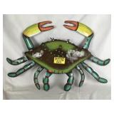 Recycled Metal Hand Painted Crab
