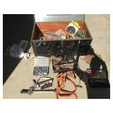 Large Heavy Steel Chest Full of Tools + Hardware