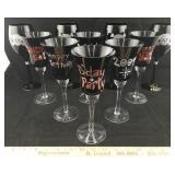 Rhinestone Skull Glasses & Birthday Glasses