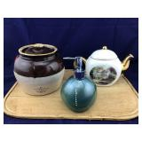 Soap Dispenser, Tea Pot and Old Bean Pot