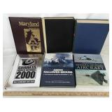 6 Hardcover Books on History, Aviation & More