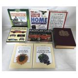 8 Books on Cars, Nutrition, WW2, Home Improvement