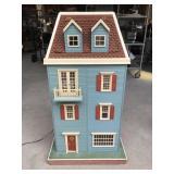3 1/2 Story Dollhouse w/ Lighting + Furniture