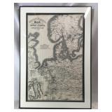 Framed Vintage Great Eastern Railway Map