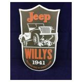 Newer Metal Jeep Willys 1941 Sign