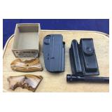 Colt Mustang Grip, Mini Maglite/Case + Holster