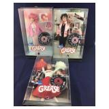 3 Boxed Barbie Dolls From Grease Movie