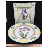 Ceramic Flower Platters