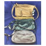 3 Leather Stone Mountain and Aigner Purses