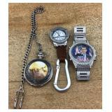 Pocket Watch and Obama Watch Plus a Third Watch