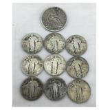 Collection of 10 Silver U.S. Coins