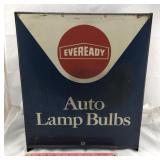 Vintage Metal Eveready Auto Lamp Bulb Cabinet