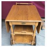 Gorgeous Oak Tea Trolly/Table