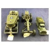 Three WWII Style Vehicles Including Tootsietoy