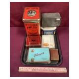 Lot With Vintage Tins/Containers Mostly Tobacco