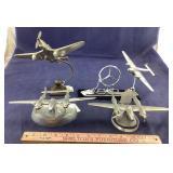 Four Metal WWII Model Planes- German Stuka,