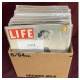 Large Box With Life Magazines From WWII