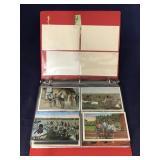 Binder With Black Memorabilia Post Cards- Many