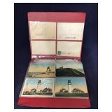 Binder With Assorted Vintage Lighthouse Postcards