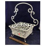 Large Iron Open-Work Basket