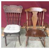 Antique Oak Rocker, Antique Chair