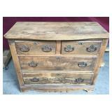 Antique Oak Four Drawer Dresser Original Hardware