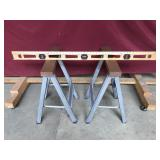 Pair of Sawhorses and Sears Level