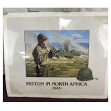 Artwork/print Signed, Patton in North Africa in